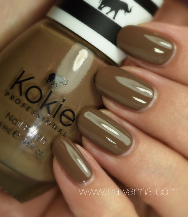 Nailvanna,nail polish reviews,lacquer,Kokie,vintage,brown