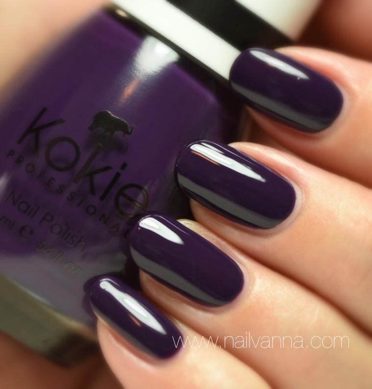 Nailvanna,nail polish reviews,lacquer,Kokie,Notorious,purple