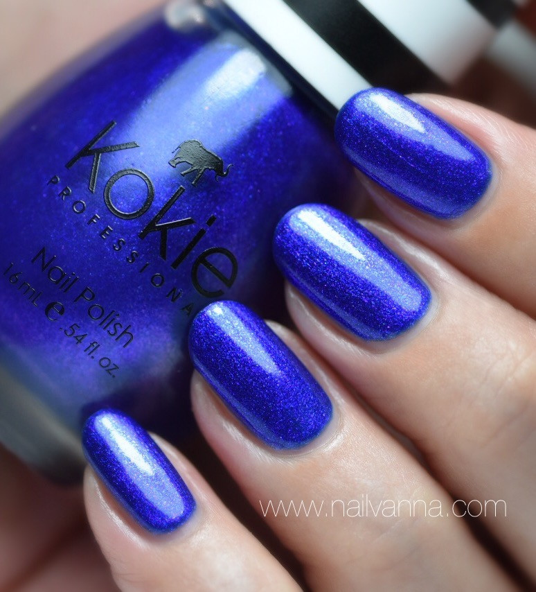 Nailvanna, nail polish reviews,lacquer,Kokie,Drama Queen,blue shimmer
