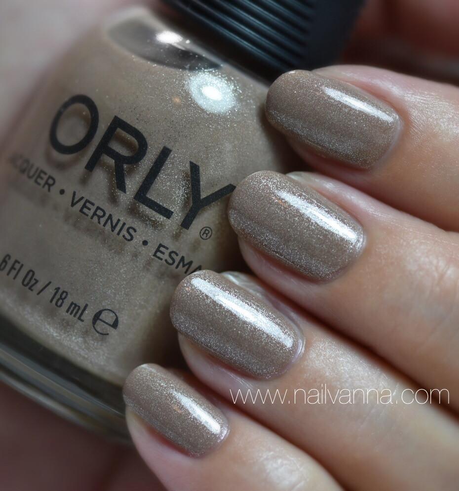 Nailvanna,nail polish reviews,lacquer,Orly,Nite Owl,Nude,Taupe,Brown,shimmer