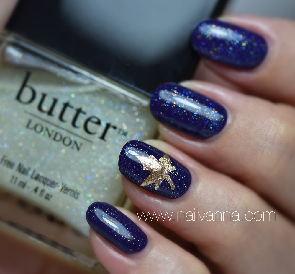 Nailvanna,nail polish reviews,lacquer,Sally Hansen,Plummet,butter London,Frilly Knickers