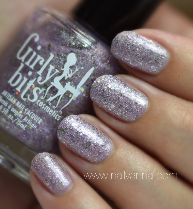 Nailvanna,nail polish reviews,lacquer,Girly Bits,The Power Of Love,lavender,glitter,holo