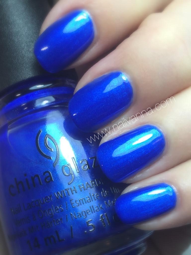 nailvanna,nail polish reviews,lacquer,china glaze, frostbite, blue, ski