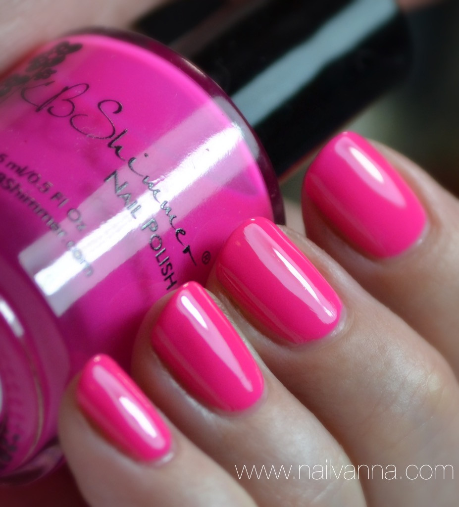 Nailvanna,nail polish reviews,lacquer,kb shimmer,beach please,hot pink,neon