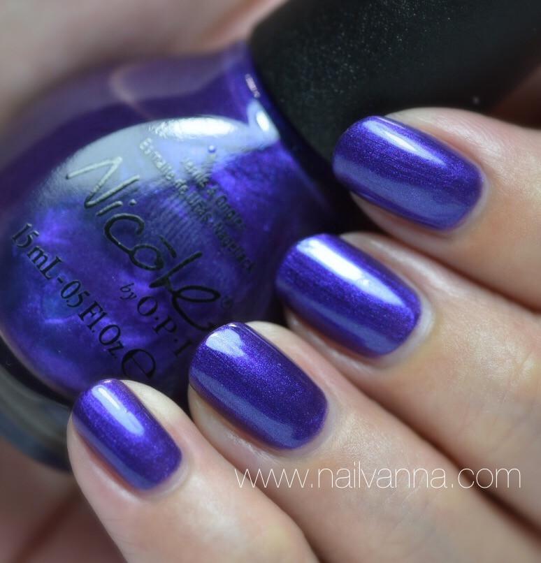 Nailvanna,nail polish reviews,lacquer,Nicole by OPI,Virtuous Violet