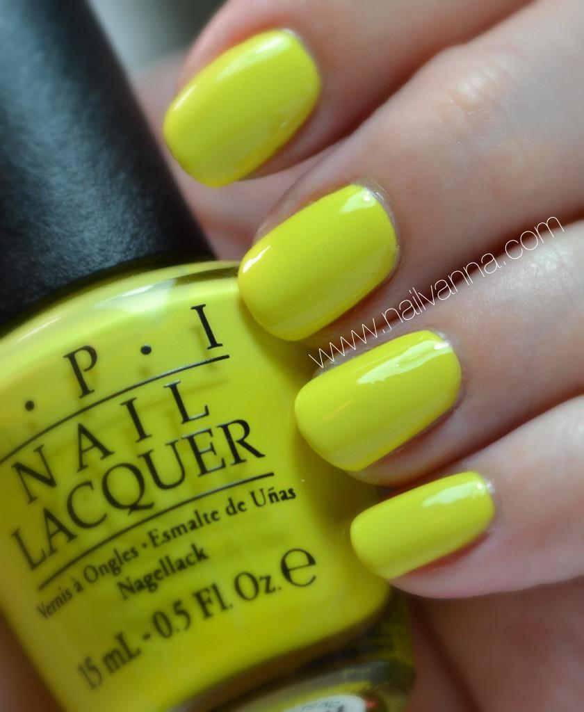 nailvanna,nail polish reviews,lacquer,opi,plant one on me,yellow