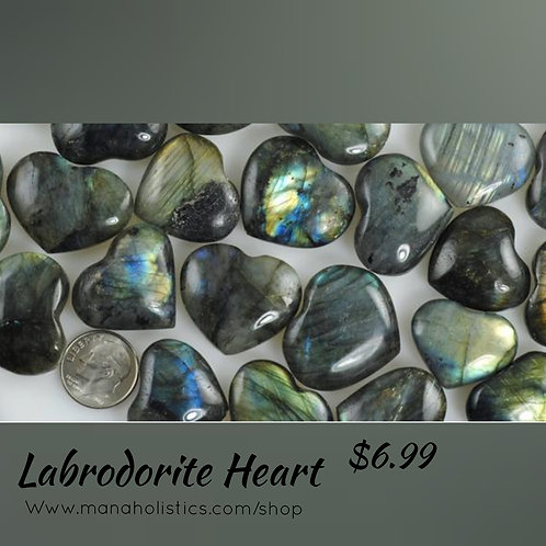 Labrodorite Heart