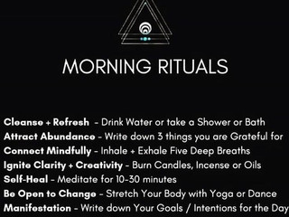 Morning (New Rising) Rituals & Why They Are Important