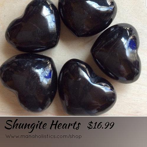 Shungite Heart Pendant