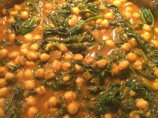 Sweet & Spicy Curried Chickpea with Spinach