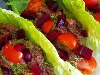 Vegan Walnut Mushroom Lettuce Wraps