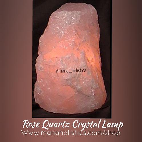 "6"" Rose Quartz Crystal Lamp"