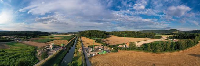 Panorama A98 Baustelle Oberlauchringen