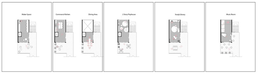 Common spaces pattern cards