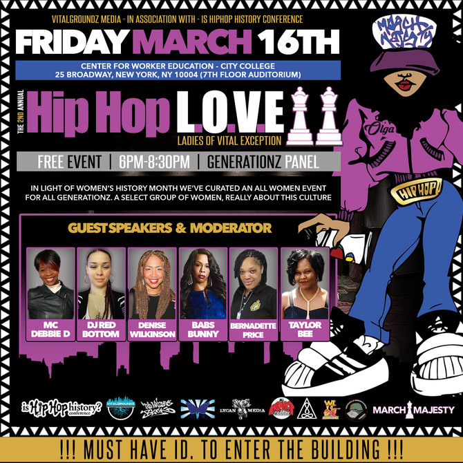 2nd Annual Hip Hop L.O.V.E Panel