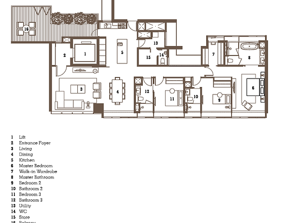 21 Angullia Park layout floorplan Developer Sales 97997553