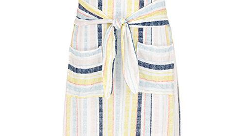 Tribal tie front dress