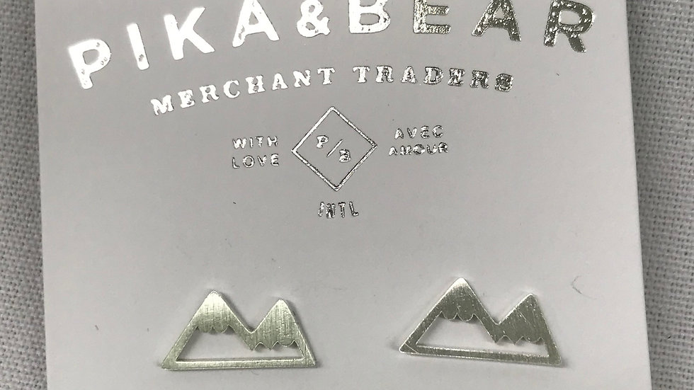 Pika & Bear silver mountains earrings