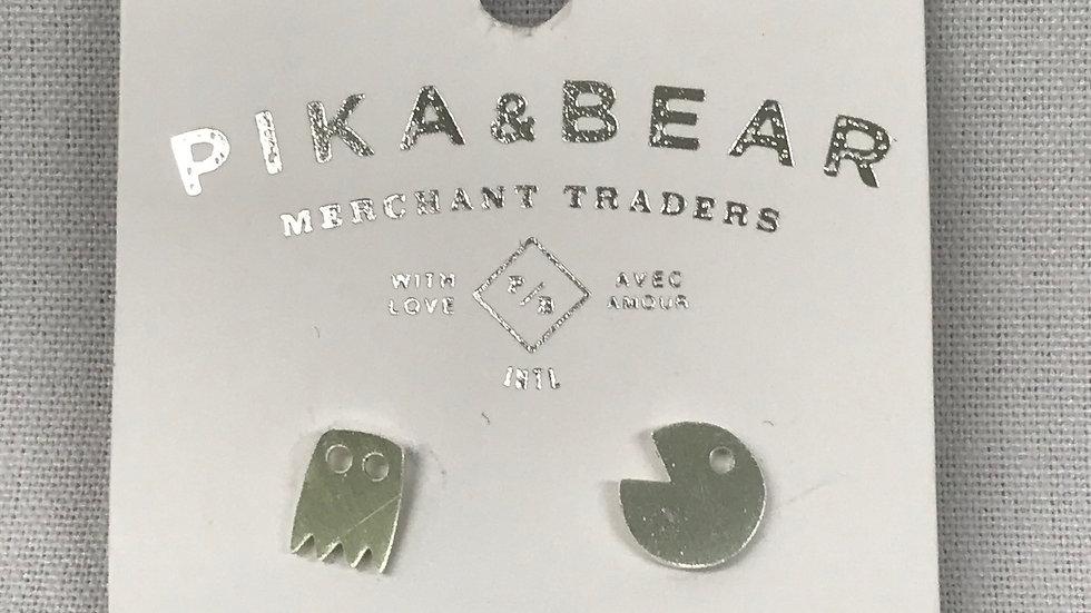 Pika & Bear pacman earrings
