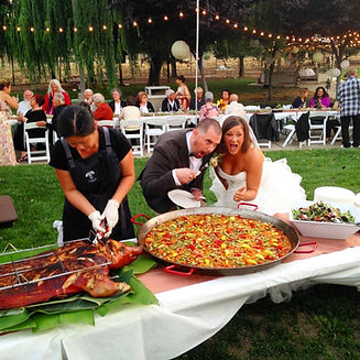 Wedding pig roast and paella