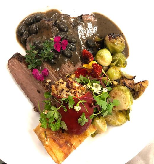 Beef Brisket wChipotle-Black Bean Agave
