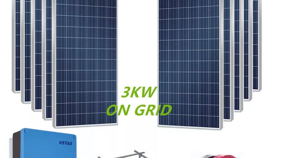 3.36 KW Grid Tie Solar System