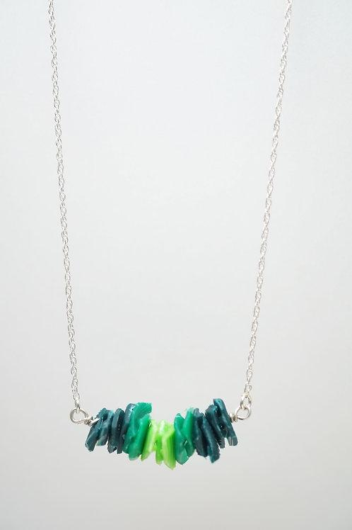 Milk Cap Necklace: Green Ombre