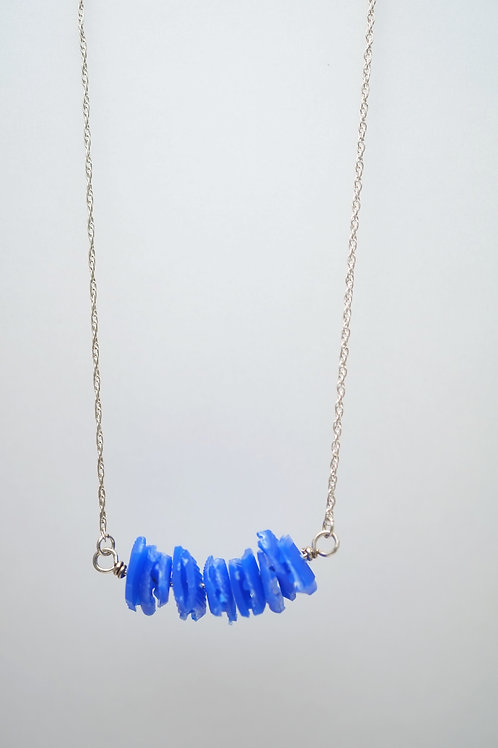 Milk Cap Necklace: Blue