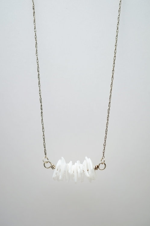 Milk Cap Necklace: White