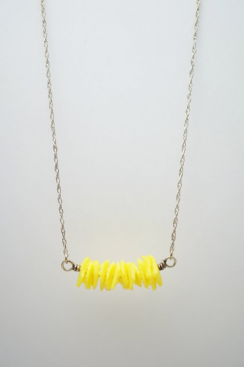Milk Cap Necklace: Yellow