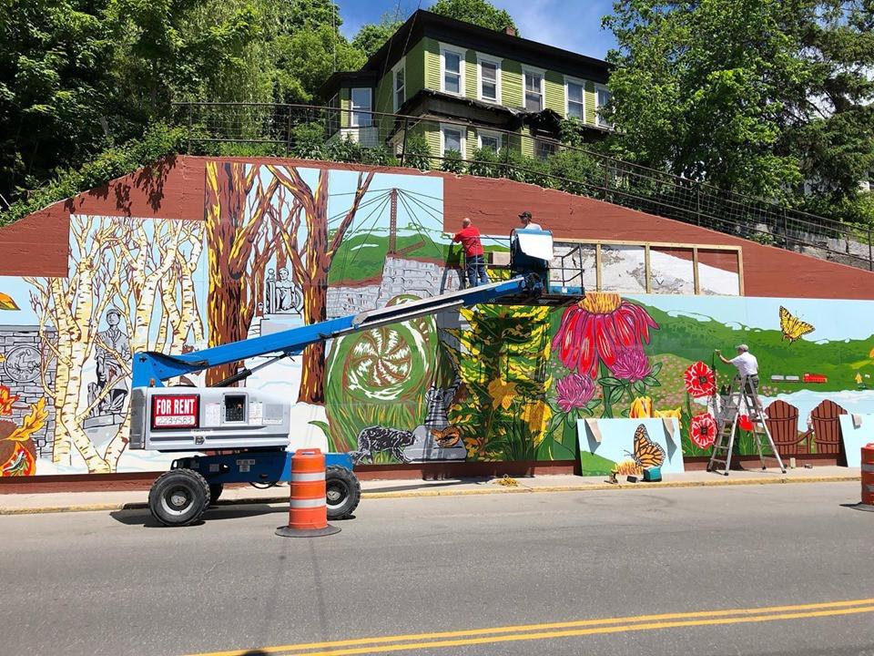 Summer Street Mural Installation