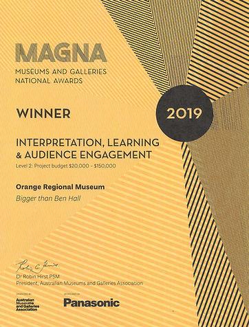 Award Certificate - MAPDA 2019 - Winner