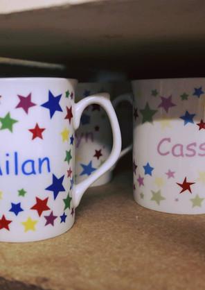 Star personalised mugs
