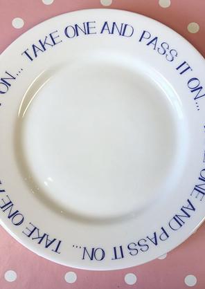 Cobalt cookie plate