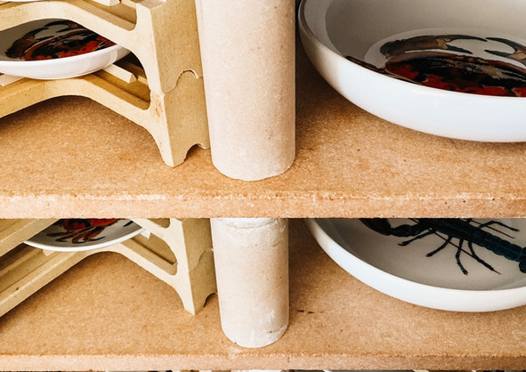 Rick Stein pasta bowls on the kiln