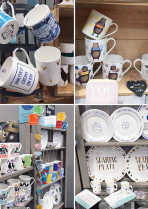 Our stock mugs on show