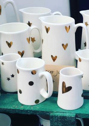 Gold jugs and mugs - real gold!