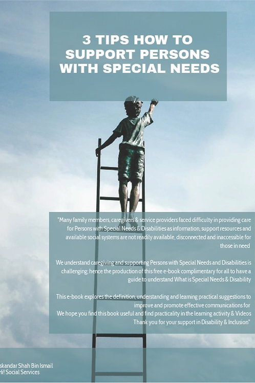 3 Tips how to support Persons with Special Needs