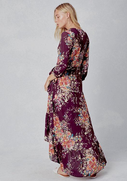 Side view floral midi dress