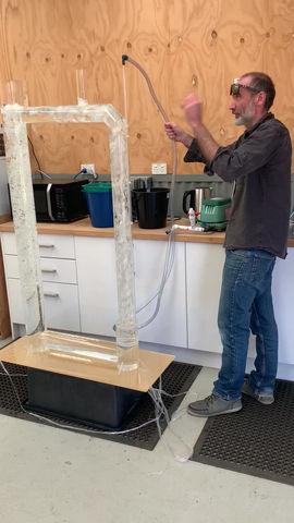 Air lift pump demonstration  (May 2021)