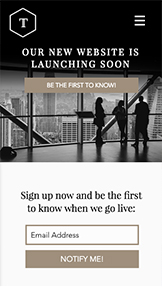 Coming Soon website templates – Business Coming Soon