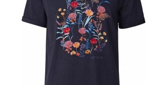 Les Deux Fleur T-shirt Dark Navy