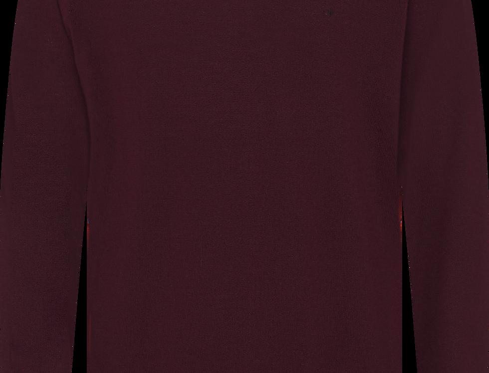Calvin Klein Rundhalset strik Superior Wool Vinrød