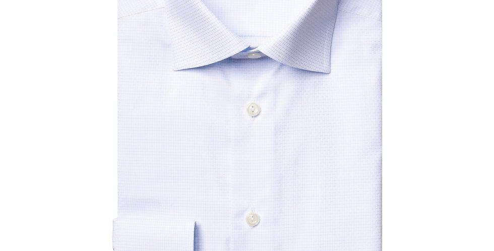 Slim skjorte - ETON - Hvidt mønster