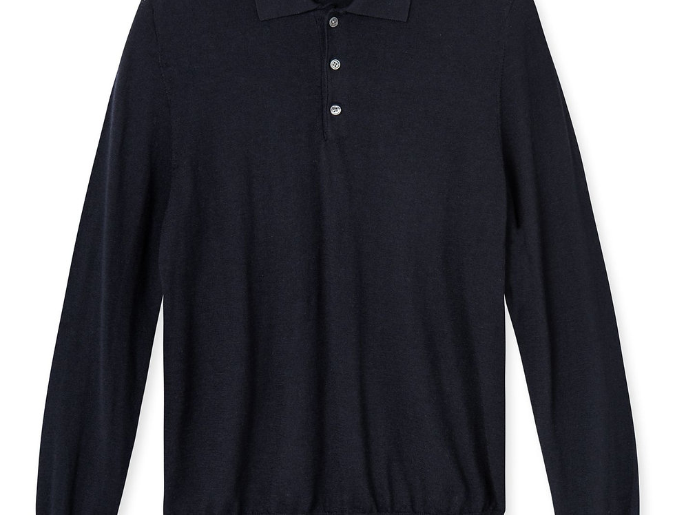 Komme Long Sleeve Polo Knit - Rue De Tokyo