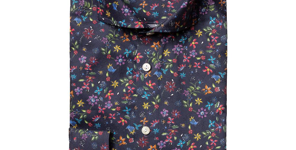 Slim skjorte - ETON - Blomster