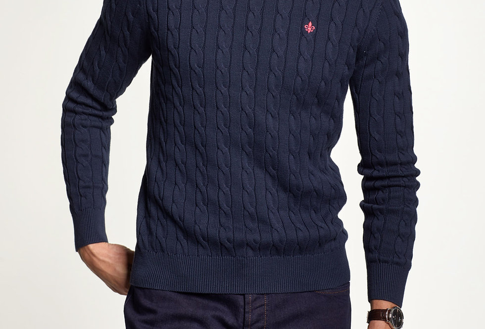 Merino Cable Oneck - Morris Stockholm
