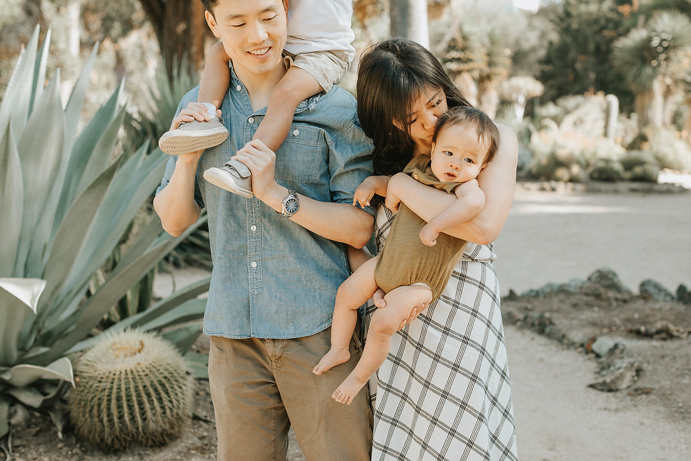 Stanford Cactus Garden Family Photographer