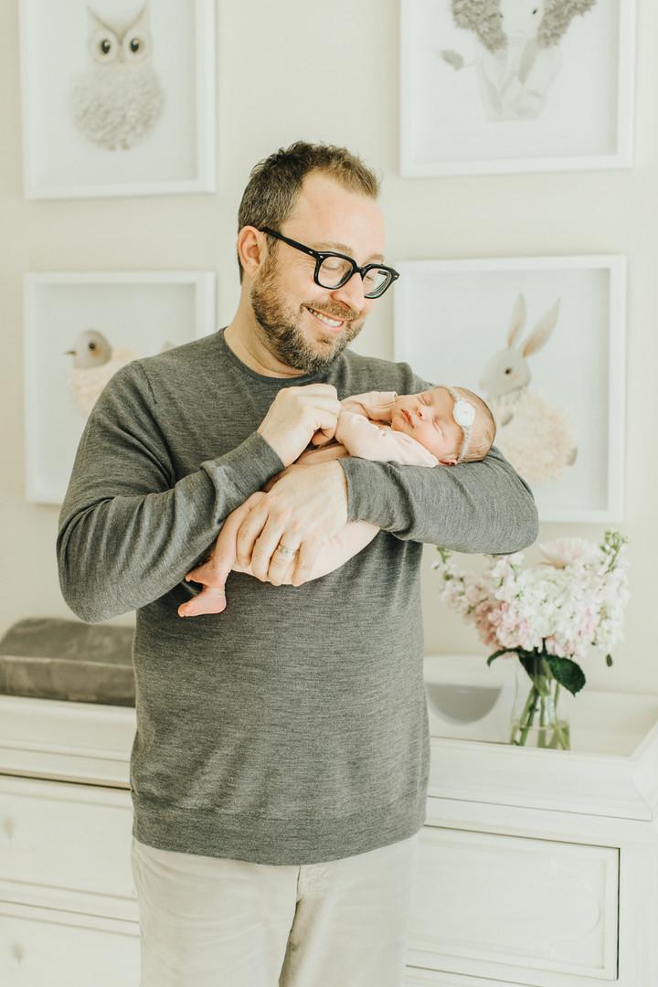 Father Daughter Newborn Portrait San Francisco