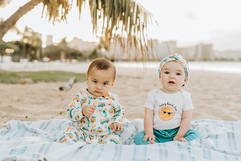 Resting Beach Face in Hawaii